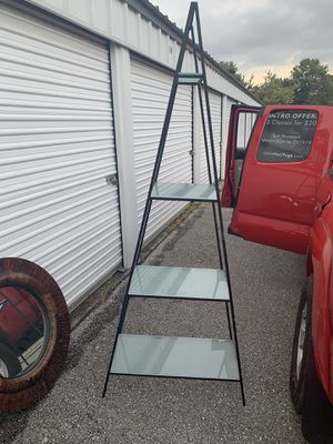 Triangular 4-glass shelves (frosted) for Sale in Bentonville, AR