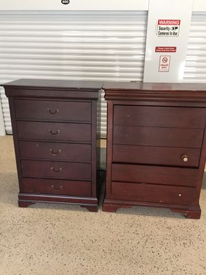 2 solid wood dresser has some scratches for Sale in Mebane, NC