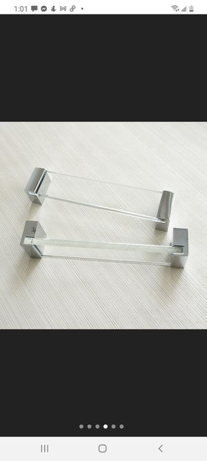 3 Cabinet Handles Acrylic clear Glass Pulls for Dresser Door etc never used for Sale in Miami Beach, FL