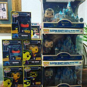 Funko Pops Black Light Batman, Joker, Harley Quinn & Walt Disney for Sale in Escondido, CA
