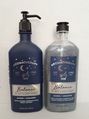 BATH & BODY WORKS AROMATHERAPY BALANCE LOTION / BODY WASH AND FOAM BATH SET for Sale in Los Angeles, CA