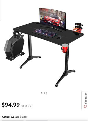 Walnew 43.3 Inch Y-Shape Frame Gaming Desk Modern Style Racing Desk for Sale in Tulare, CA