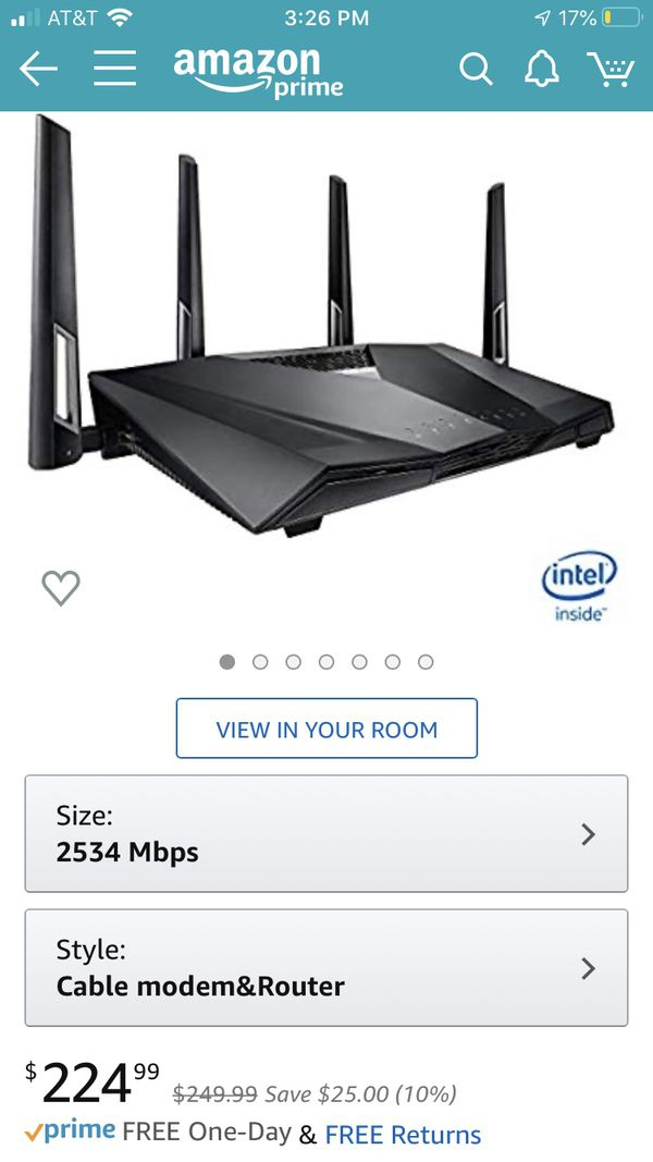 Asus router modem combo.