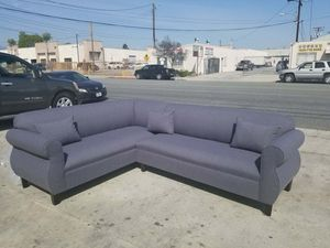NEW 7X9FT DARK CHARCOAL FABRIC SECTIONAL COUCHES for Sale in Spring Valley, CA