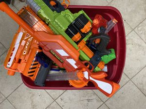 Tub of nerf guns and bullets for Sale in Sanibel, FL