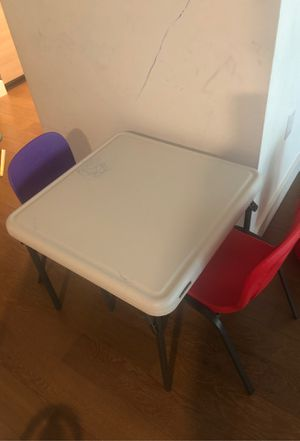 Kids table and 2 chairs for Sale in San Francisco, CA
