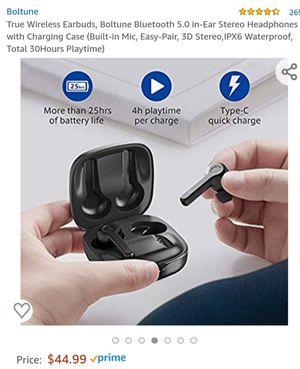 True Wireless Earbuds, Boltune Bluetooth 5.0 for Sale in San Jose, CA
