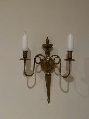 Brass wall candle holders (2) for Sale in Rockaway, NJ