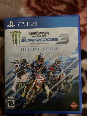 Ps4 monster energy super cross game for Sale in Tucson, AZ