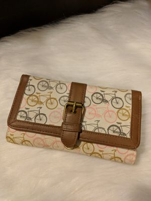 Bicycle Faux Leather & Fabric Wallet for Sale in Manassas, VA
