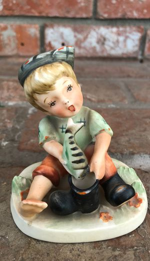 Hummel like Napco Figurine boy with Fish in Boot Vintage Antique Japan for Sale in La Mesa, CA