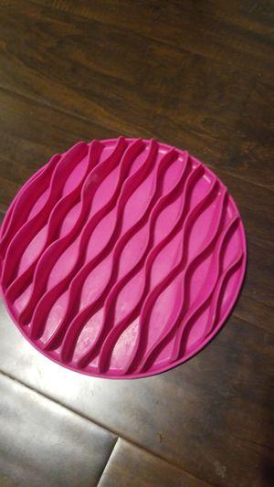 Silicone pink slow feeder food dish for Sale in Auburn, WA
