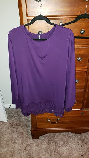 Tunic Wide lace trim never worn 2xl for Sale in Cedar Park, TX