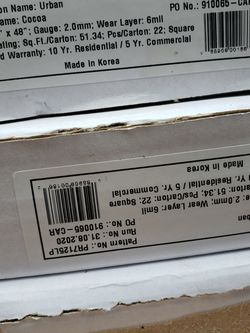 Glue Down Vinyl Plank $0.68 Per Sq-ft for Sale in Houston,  TX
