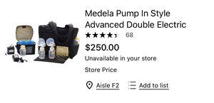 Brand new in box medela breast pump for Sale in Schaumburg, IL
