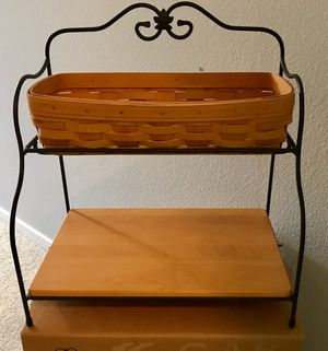 Longaberger Wrought Iron small 2 tier Bakers Rack for Sale in San Diego, CA