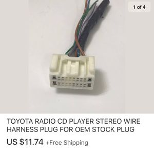TOYOTA RADIO CD PLAYER STEREO WIRE HARNESS PLUG FOR OEM STOCK PLUG for Sale in Marysville, WA