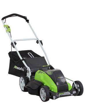 "GreenWorks 25292 Cordless Lawn Mower 19"" no batteries for Sale in Salt Lake City, UT"