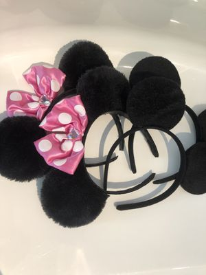 Mickey and Minnie mouse ears for Sale in North Bethesda, MD