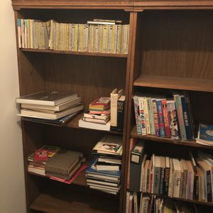 3 6-foot wooden bookcases for Sale in Arlington, VA