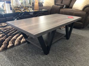 Elegant grey finish coffee table for Sale in Irving, TX