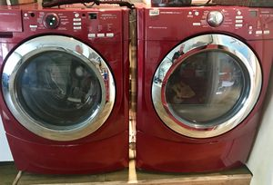 Maytag 5000 Series - Washer & Dryer set - Front Load - Candy Apple Red for Sale in Woodland Hills, CA
