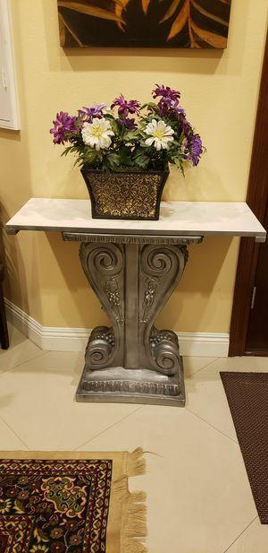 Console Table w/ Quartz Top and Grape Design Base for Sale in Whittier, CA