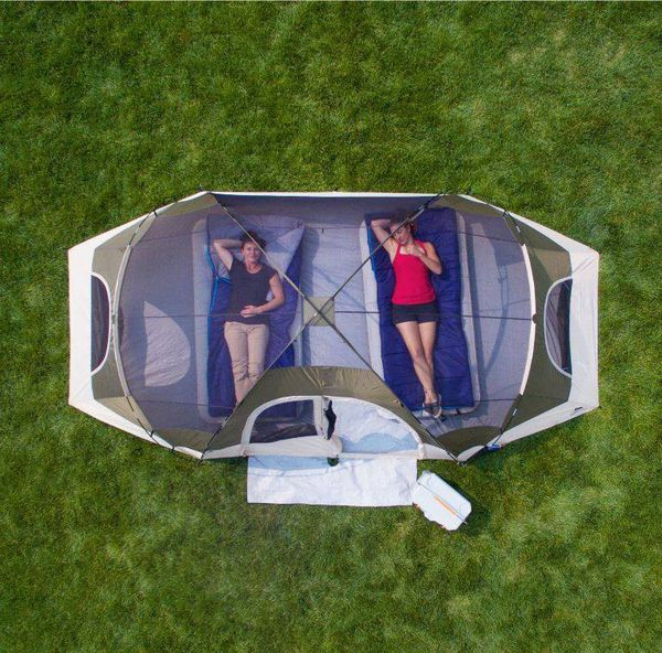 Large 8 Person Family Camping Tent Dome Style with Cover New in Box