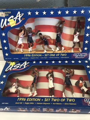 NEW IN BOX 1996 STARTING LINEUP USA BASKETBALL - SET ONE AND TWO - 10 FIGURES ALL STARS - COLLECTIBLE TOYS for Sale in San Diego, CA