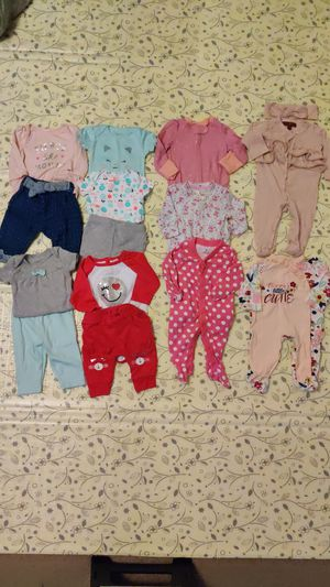 0-3 baby girl clothing lot for Sale in Bensalem, PA