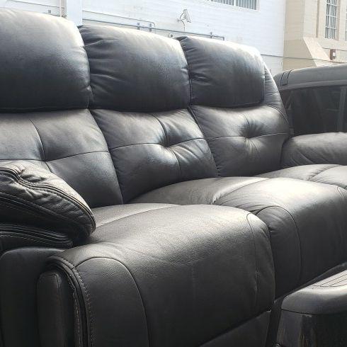 Power reclining sofa.