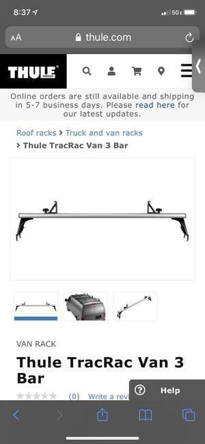 Thule TracRac Van 3 Bar roof rack system for Sale in Encinitas, CA