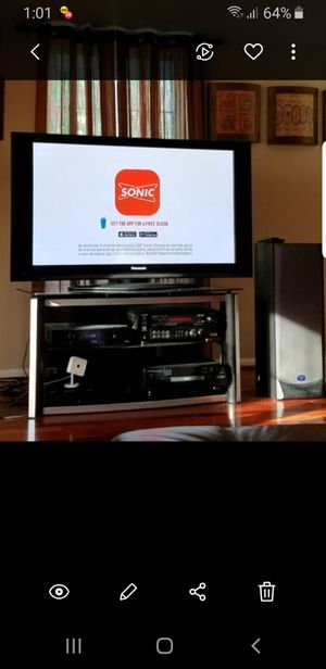 """50"""" Flat Screen Panasonic TV w stand for Sale in NORTH PENN, PA"""