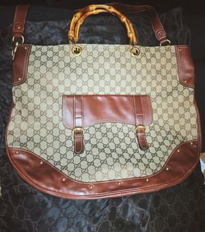 Gucci Monogram GG Bamboo Messenger Tote Bag for Sale in Portland, OR