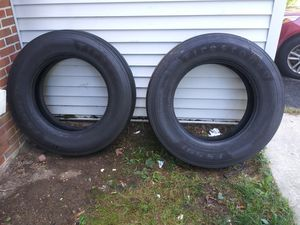 (2 )Brand new tractor trailer Steer tires for Sale in Willingboro, NJ