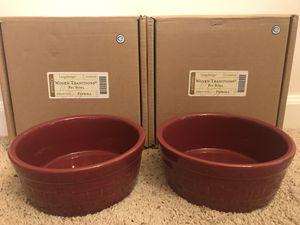Longaberger pet bowls for Sale in Graham, WA