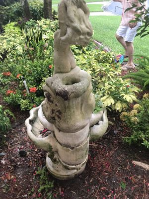 Concrete fountain /succulent garden for Sale in Clearwater, FL