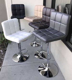 "NEW $40 each 24"" to 33"" seat height swivel barstool bar chair black brown grey or white for Sale in Los Angeles, CA"