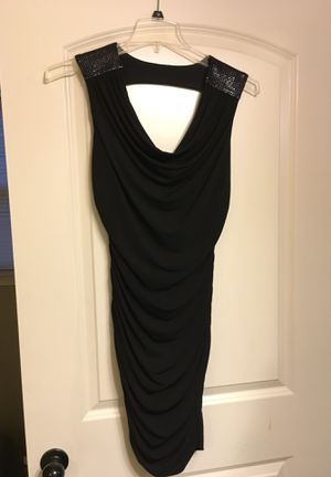 Worn only once. Great party dress or date night size Medium. I am 5'6 120 it's stretchy fabric and the top drapes down so it's very flattering. for Sale in Benton, AR