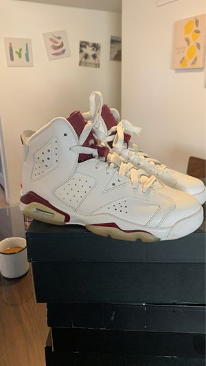 Jordan retro 6 maroon youth size 4.5 for Sale in Upland, CA