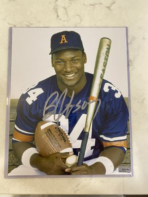 Bo Jackson signed photo for Sale in Bloomington, IL