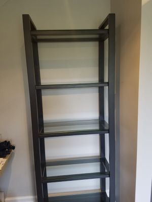 Crate and Barrel Pilsen Graphite Bookcase for Sale in Ellicott City, MD