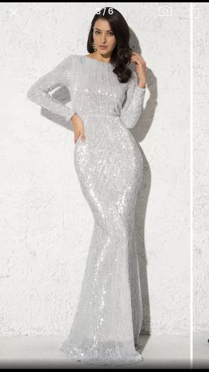 Silver Prom Gown Dress for Sale in Monrovia, CA