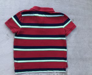 Boy's polo by Ralph Lauren red, white, blue, white stripped short sleeve, collared neckline size 5 for Sale in Miami, FL