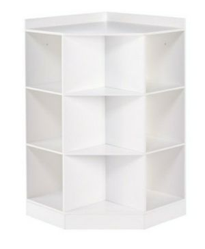 6- cubby, 3-shelf corner cabinet -Grey - Riverridge Home for Sale in Brooklyn, NY