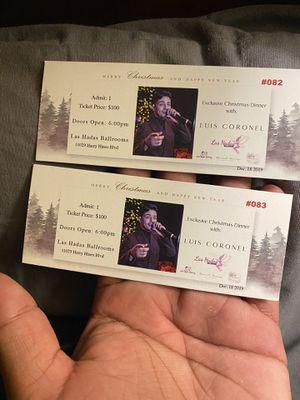 2 Boletos de Luis Coronel for Sale in Dallas, TX