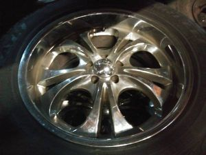 Boss 20 inch rims and tires. 5 on 4.5 inch, ranger, explorer, more for Sale in Pico Rivera, CA