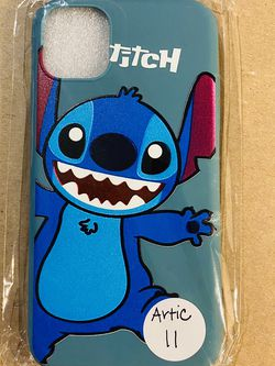Brand new cool iphone 11 REGULAR 6.1 case cover rubber silicone ARTIC BLUE Lilo And Stitch Hawaiian Disneyland disney love fundas girls womens pretty for Sale in Loma Linda,  CA