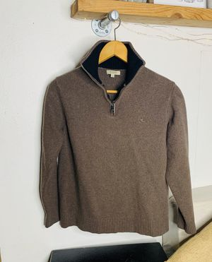 Women's Burberry London Designer Brown Made in Italy Soft Sweater Small A4 for Sale in Hollywood, FL