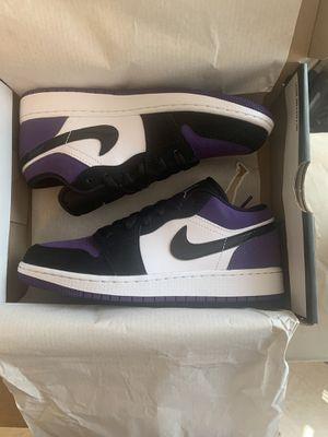 Nike Air Jordan 1 Low Purple Toe Size 4.5 Big Kids for Sale in The Bronx, NY